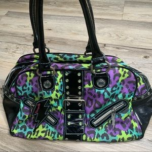 Betsey Johnson Betseyville Handbag Tote Purse EUC